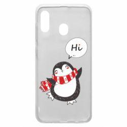 Чохол для Samsung A20 Зимовий пингвинчик