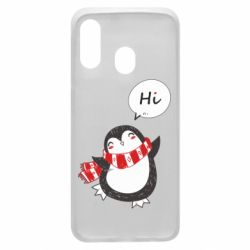 Чохол для Samsung A40 Зимовий пингвинчик