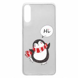 Чохол для Samsung A70 Зимовий пингвинчик