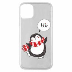 Чохол для iPhone 11 Pro Зимовий пингвинчик
