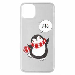 Чохол для iPhone 11 Pro Max Зимовий пингвинчик