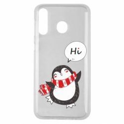Чохол для Samsung M30 Зимовий пингвинчик