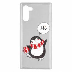 Чохол для Samsung Note 10 Зимовий пингвинчик