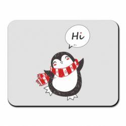 Килимок для миші Зимовий пингвинчик