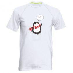 Чоловіча спортивна футболка Зимовий пингвинчик