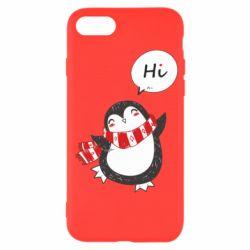 Чохол для iPhone 7 Зимовий пингвинчик