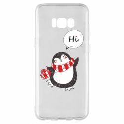 Чохол для Samsung S8+ Зимовий пингвинчик