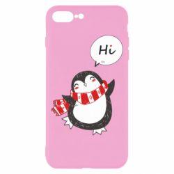 Чохол для iPhone 8 Plus Зимовий пингвинчик