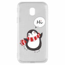 Чохол для Samsung J3 2017 Зимовий пингвинчик