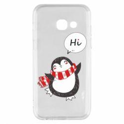 Чохол для Samsung A3 2017 Зимовий пингвинчик