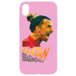 Чехол для iPhone XR Златан Ибрагимович, полигональный портрет