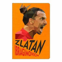 Блокнот А5 Златан Ибрагимович, полигональный портрет