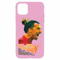 Чехол для iPhone 11 Златан Ибрагимович, полигональный портрет