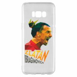 Чехол для Samsung S8+ Златан Ибрагимович, полигональный портрет