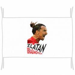 Флаг Златан Ибрагимович, полигональный портрет