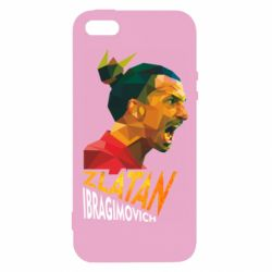 Чехол для iPhone5/5S/SE Златан Ибрагимович, полигональный портрет