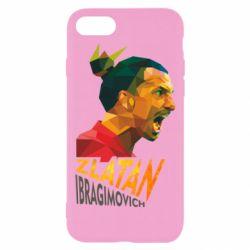 Чехол для iPhone 7 Златан Ибрагимович, полигональный портрет
