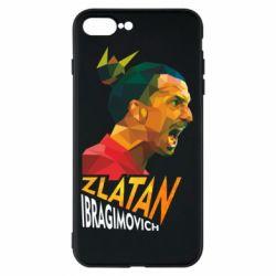 Чехол для iPhone 7 Plus Златан Ибрагимович, полигональный портрет