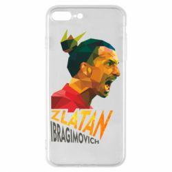 Чехол для iPhone 8 Plus Златан Ибрагимович, полигональный портрет