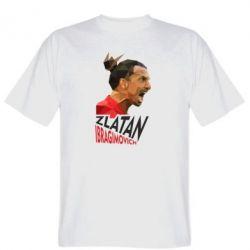 Мужская футболка Златан Ибрагимович, полигональный портрет
