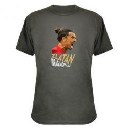 Камуфляжная футболка Златан Ибрагимович, полигональный портрет