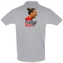 Мужская футболка поло Златан Ибрагимович, полигональный портрет