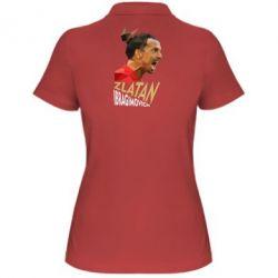 Женская футболка поло Златан Ибрагимович, полигональный портрет