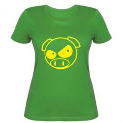 Женская футболка Злая свинка - FatLine