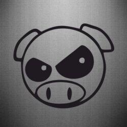 Наклейка Злая свинка - FatLine