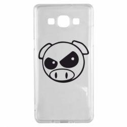 Чехол для Samsung A5 2015 Злая свинка