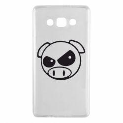 Чехол для Samsung A7 2015 Злая свинка