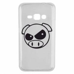 Чехол для Samsung J1 2016 Злая свинка