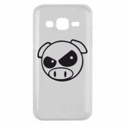 Чехол для Samsung J2 2015 Злая свинка