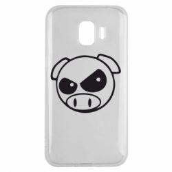 Чехол для Samsung J2 2018 Злая свинка