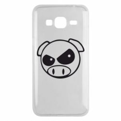 Чехол для Samsung J3 2016 Злая свинка