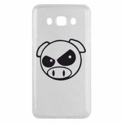 Чехол для Samsung J5 2016 Злая свинка