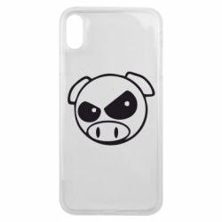 Чехол для iPhone Xs Max Злая свинка