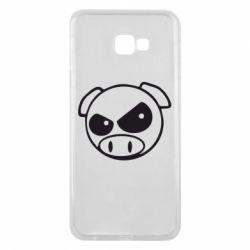 Чехол для Samsung J4 Plus 2018 Злая свинка