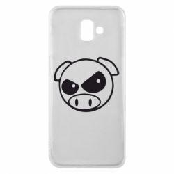 Чехол для Samsung J6 Plus 2018 Злая свинка
