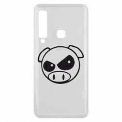 Чехол для Samsung A9 2018 Злая свинка