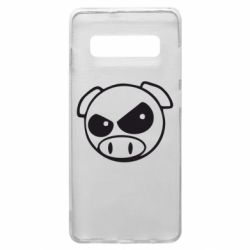 Чехол для Samsung S10+ Злая свинка
