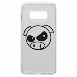 Чехол для Samsung S10e Злая свинка