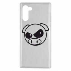 Чехол для Samsung Note 10 Злая свинка