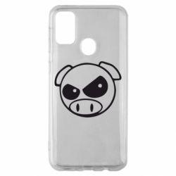 Чехол для Samsung M30s Злая свинка
