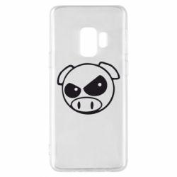 Чехол для Samsung S9 Злая свинка