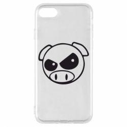 Чехол для iPhone 7 Злая свинка
