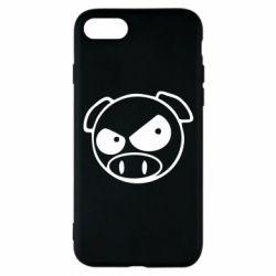 Чехол для iPhone 8 Злая свинка