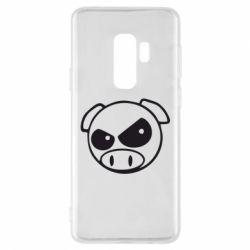 Чехол для Samsung S9+ Злая свинка