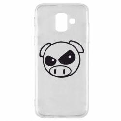 Чехол для Samsung A6 2018 Злая свинка