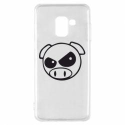 Чехол для Samsung A8 2018 Злая свинка